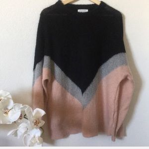 & Other Stories oversized colorblock knit sweater